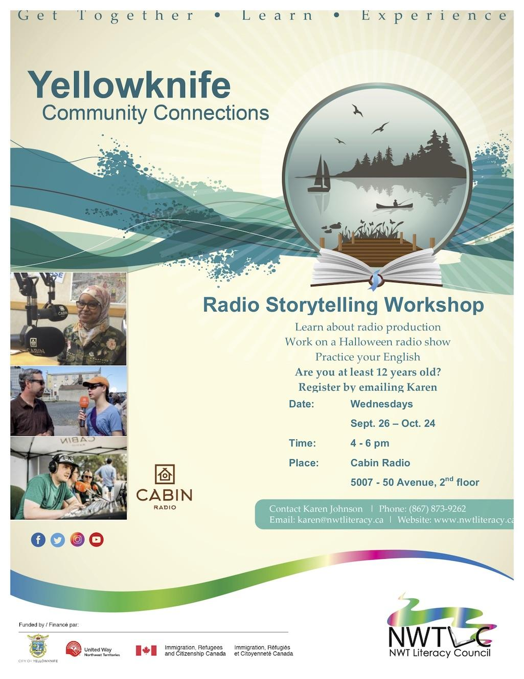 Radio Story Telling Workshop starting September 26