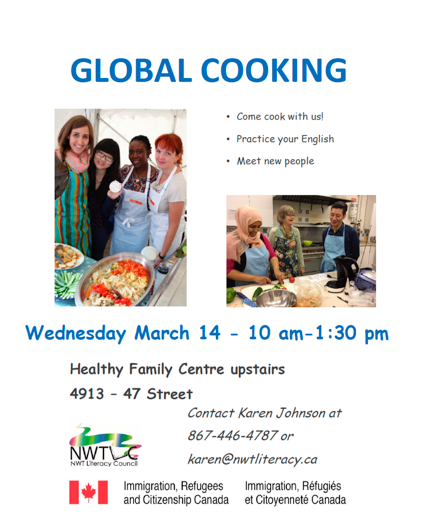 Global Cooking, March 14