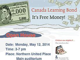 Join us May 12th to learn more about the Canada Learning Bond!