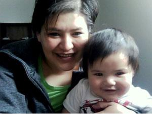 Technology and elders help mother teach Gwich'in to her son