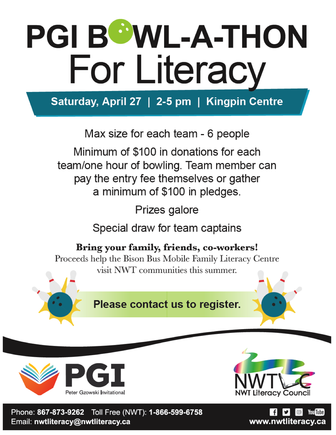 PGI Bowl-a-Thon for Literacy