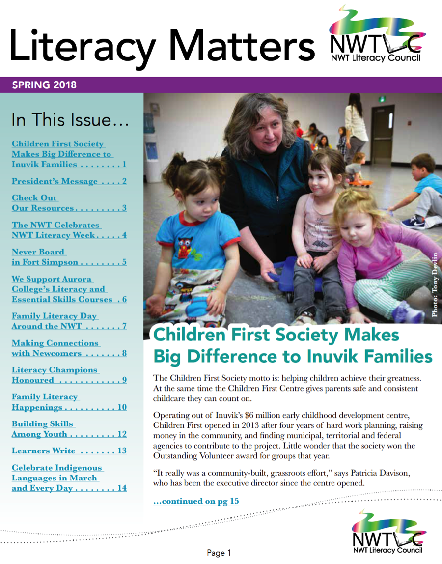 Our spring issue of Literacy Matters is online