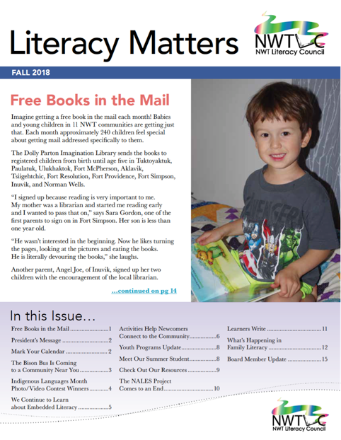 Our fall issue of Literacy Matters is online!