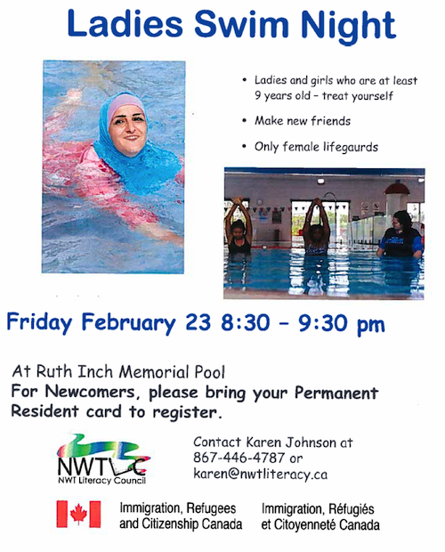 Ladies Swim Night, February 23