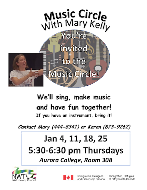 Music Circle with Mary Kelly - January 4, 11, 18, 25
